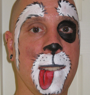 How to paint a dog face
