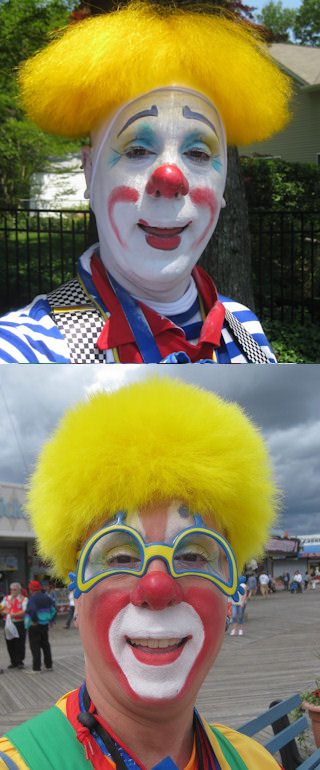 Whiteface and Auguste Clown Makeup